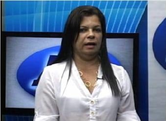 Atual secretária de Saúde, Hozana Simões. Foto: TV Guarapari.